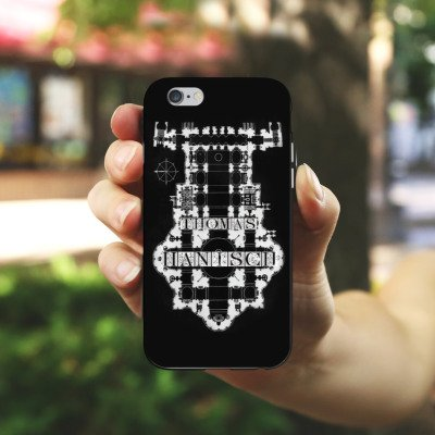 Apple iPhone X Silikon Hülle Case Schutzhülle Thomas Hanisch Schwarz Weiß Rock n Roll Silikon Case schwarz / weiß