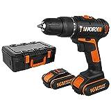 Worx WX385.1 Schlagbohrmaschine, 16 V, 2 Ah, 2 Bat