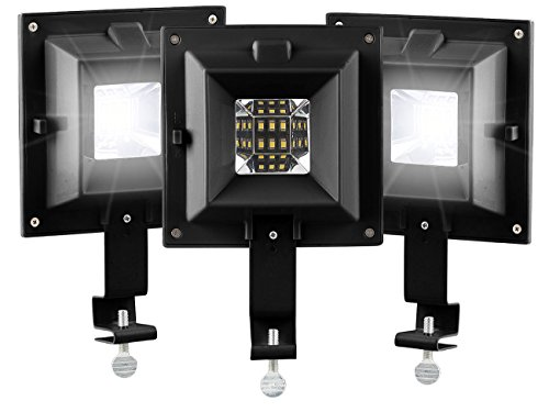 Lunartec LED Aussenlampen: 3er-Set Solar-LED-Dachrinnenleuchten, 6 SMD-LEDs, 20 lm, IP44, schwarz (Dachrinnen Solarleuchte)