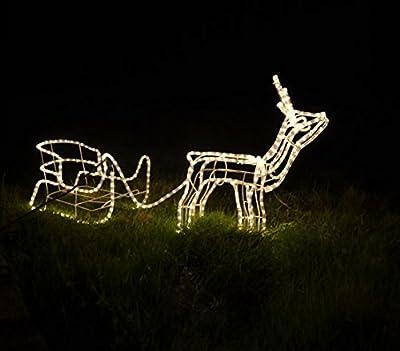Dehner Rentier mit Schlitten, Leuchtschlauch, ca. 150 x 70 cm von Dehner bei Du und dein Garten