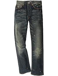 Christian Audigier Premium Hommes Jeans Bleu Grindhouse M22082LBB34