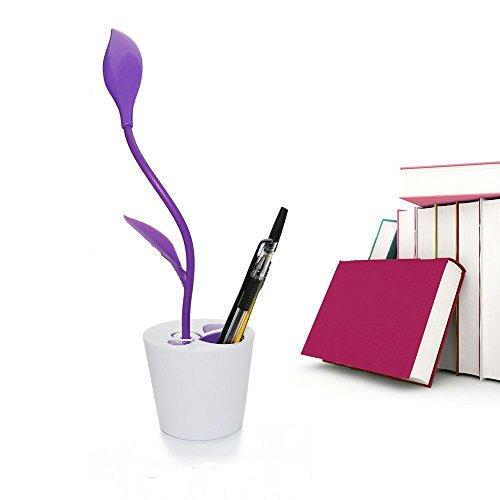 Lampada da scrivania con porta usb, eye-care lampada 3 livelli di dimmerabile controllo lampada lettura con portapenne,touch-sensitive lampada da tavolo a led td015