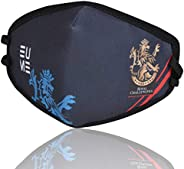 EUME Protect+ 95 (IPL- Official Royal Challengers Bangalore Face Mask) Reusable and Washable (UNISEX) - (NavyB