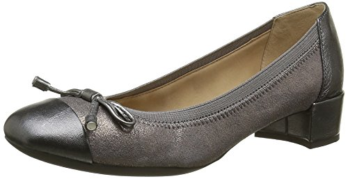 Geox D CAREY A, Damen Pumps, Grau (Dk Grey/GUNC9F1G), 38 EU (5 Damen UK)