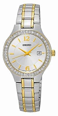 Seiko–Reloj de pulsera analógico para mujer cuarzo acero inoxidable sur783p1