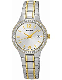 Seiko Damen-Armbanduhr Analog Quarz Edelstahl SUR783P1