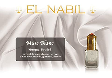 Musc Blanc - El Nabil Musc Luxury Atar Oil Perfume Roller Free From Alcohol
