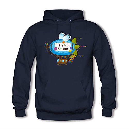 Classic Pullover Hooded Sweatshirt - Womens Cute Flying Animals Casual Tops B
