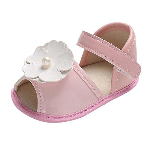 Baby Blumen Perle Sandalen - Fashion Rutschfester Sohle Krippe Prewalker Sneaker - Schuhe für Kinder für Babys für 0-6 Monate 6-12 Monate 12-18 Monate (Halfter Lace Perlen)