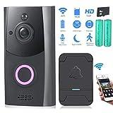 Zuzpao Video Doorbell, [2019 Updated] Wireless Smart Doorbell 720P HD WiFi Security Camera