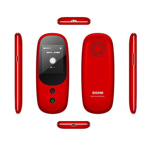 OMZBM Professionelle Intelligente Sprachübersetzer-Unterstützung 41 Sprachen 1500Mah 2,4-Zoll-Touchscreen WiFi 4G Global Travel Assistant Elektronisches Wörterbuch Mehrsprachig,Red