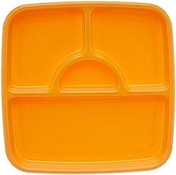 Signoraware Square Serving Thali, Orange
