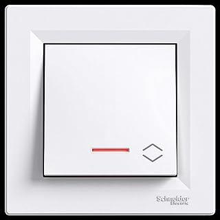 Wechselschalter mit LED, Schneider Electric, Asfora , weiss, neu