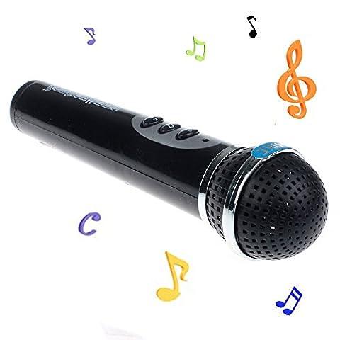 yanhoo Mädchen Jungen Mikrofon Karaoke Singen Kid Funny Geschenk Musik Spielzeug, Kinder, schwarz (Zwölf Tage Von Weihnachten Mit Karaoke)