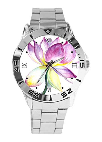 Lotus Design Analog Wrist Watch Quartz Silver Dial Classic Stainless Steel Band Women's Men's Watch