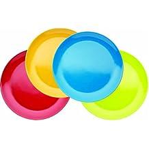 Miniamo Brights - Platos de melamina (4 unidades), varios colores