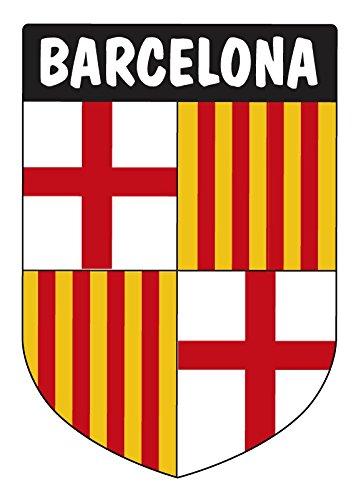 Pegatina Escudo Barcelona 40x60 mm.