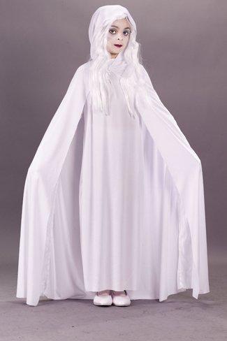 Gossamer Kostüm - Morris Costumes Gossamer Ghost Child Large Hooded Cape Polyester Popular by Fun World