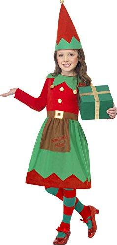 Smiffys, Kinder Mädchen Elfen Kostüm, Kleid und Mütze, Größe: L, (Für Kinder Elfen Kostüme)
