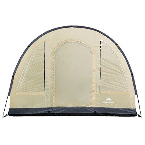 CampFeuer - Großes Tunnelzelt, Creme/schwarz, 5000 mm Wassersäule, Campingzelt - 5