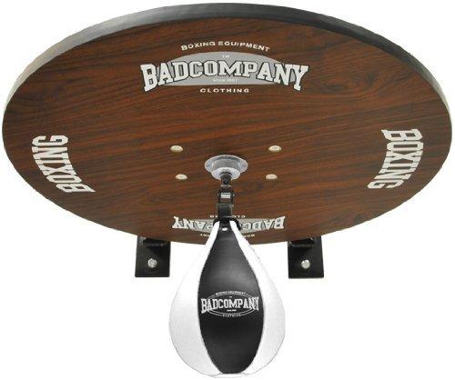 Premium Speedball Plattform Set inkl. Drehkugellagerung schwarz und PU Boxbirne medium schwarz / Boxapparat für die Wandmontage BCA-40