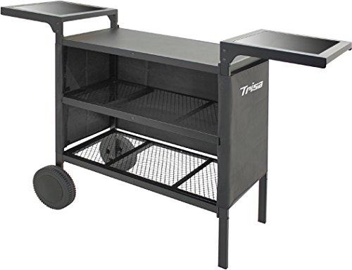 Trisa Electronics Plancha Grill-Trolley Decke Schwarz 90x 41x 21cm