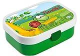 Mein Zwergenland Brotdose Mepal Campus mit Bento Box und Gabel mit eigenem Namen Schildkröte (Grün)