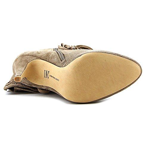 INC International Concepts Tomi Rund Wildleder Mode-Knie hoch Stiefel Warm Taupe