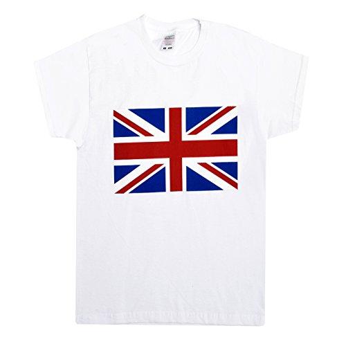 T Britische Shirt Flagge (Kinder Union Jack Druck T-shirt Patriotisch England 2016 Britische Flagge T-shirt Top - Weiß - Union Jack, 116)