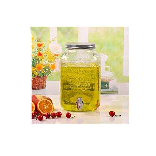 (WEIFAN-Sealed jar Versiegelte Dosen bleifreie transparente Haushaltsglas-Saftdosen mit Wasserhahn getränkten Gläsern Mason Dosen versiegelten Dosen 8L)
