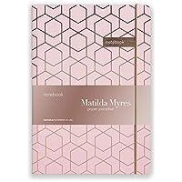 Matilda Myres Notebook - Rose Gold Foil - Pink