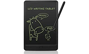 NEWYES 10 Inches LCD Writing Tablet Pad with Lock key Kids Drawing Board Electronic Graphic Drawing Tablet Fridge Magnets For Home School Office