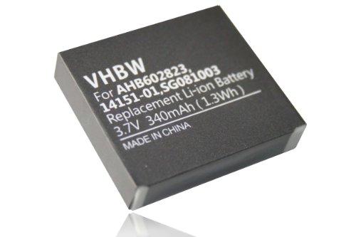 vhbw Li-Ion Akku 340mAh (3.7V) für Headset, Kopfhörer GN Netcom Jabra 9120, 9125, GN9120, GN9120 Flex wie 14151-01, 14151-02, AHB602823, SG081003. (Gn Netcom Gn 9120)