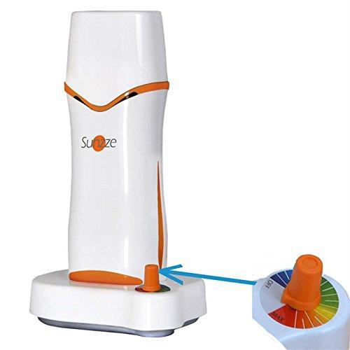 Sunzze Wachserhitzer mit Station für Wachspatronen. Für die Enthaarung von Beine und Körper