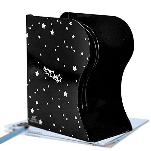 Neue 3-regal-bücherregal (MNII Desktop-Regal Buchhalter Buchblock faltbare Stahlplatte Teleskop-Ständer drei Säulen große kreative Regal , black - star)