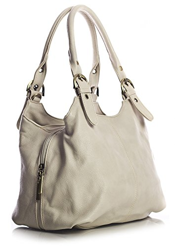 Big Handbag Shop, Borsa a mano donna Beige (Hell Beige)