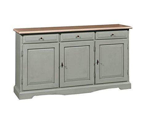 Vintage home credenza base a 3 porte e 3 cassetti in legno l156x42x85h