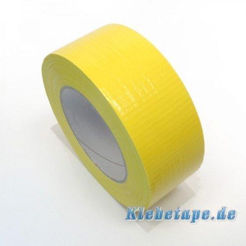 Klebeband Gelb 48mm x 50m Gewebeband Reparaturband PE beschichtet