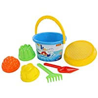 Polesie 610 182, Sieve, 3 Forms, Shovel, Rake-Sets: Medium Decorated Bucket, Multi Colour