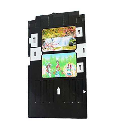 Wenwenzui PVC ID Card Tray Plastic Card Printing Tray for Epson Type A Printer Plate Black