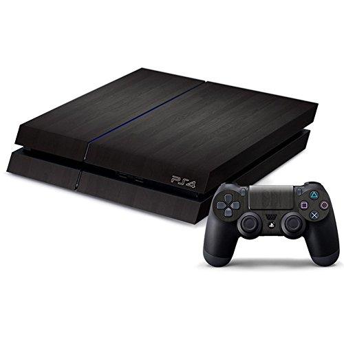 DOTBUY PS4 Skin Aufkleber Sticker Design Folie schützende Haut Schale für Sony Playstation 4 Konsole und 2 Dualshock Controller (Wood Black)