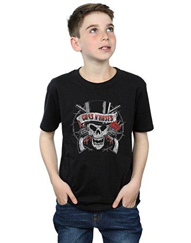 Guns N Roses niños Distressed Death's Head Camiseta 9-11 Years Negro