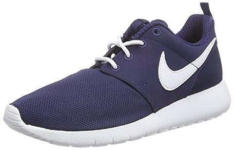 Nike Roshe One (Gs), Jungen Sneakers, Blau (Midnight Navy/White), 39 EU