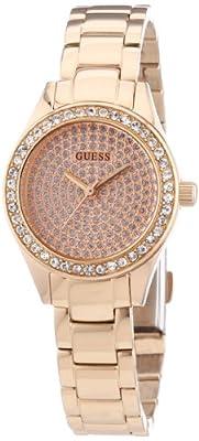 Guess Ladies Trend W0230L3 de cuarzo para mujer, correa de acero inoxidable color oro rosa