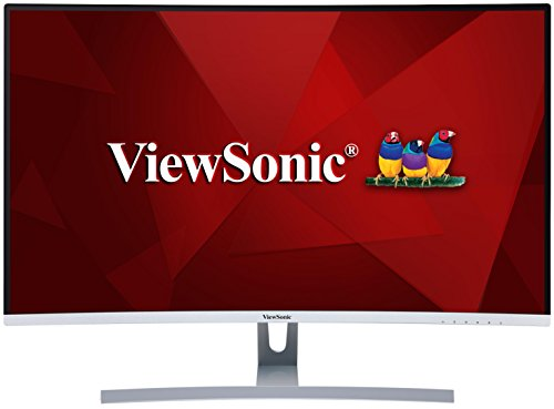 Viewsonic VX3217-2KC-MHD 80 cm (32 Zoll) Curved Monitor (WQHD, VA-Panel, HDMI, DP, mDP, 5 ms, Eye-Care, Multidisplay) silber-schwarz Viewsonic 32