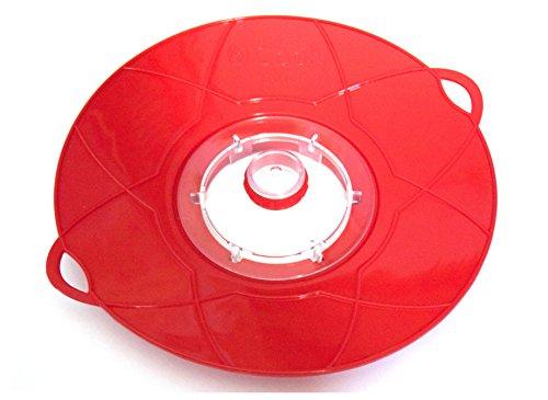 4-cook-couvercle-anti-debordement-et-protection-anti-eclaboussures-multi-fonctionnels-oe-29-cm-rouge