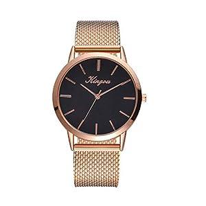 Damen Uhr Edelstahl Armband,Kimdera Armbanduhr Mesh-Metallband Silber Quarz Mode Damenuhr Ultra-flach dünn Ultra Thin Dial