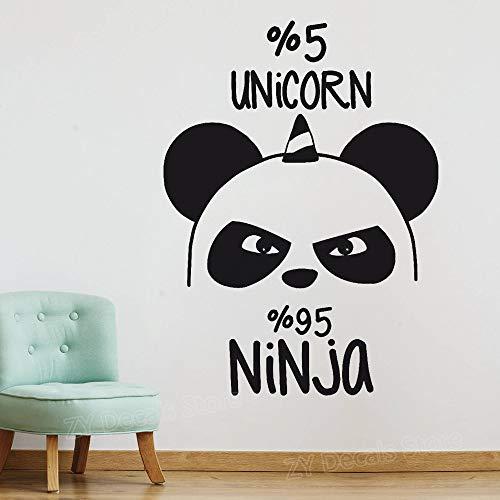 da Bär Ninja KindergartenWandaufkleber Kinderzimmer Japanische Kultur Vinyl Wandtattoos Schlafzimmer Wohnkultur Poster 42 * 57 cm ()