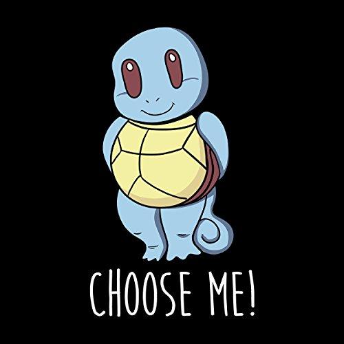 Choose Me Squirtle Pokemon Men's Vest Black