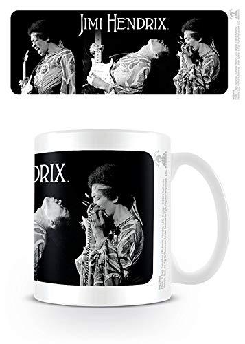 Jimi Hendrix Taza de cerámica mg25435315ml/11oz-Triptych